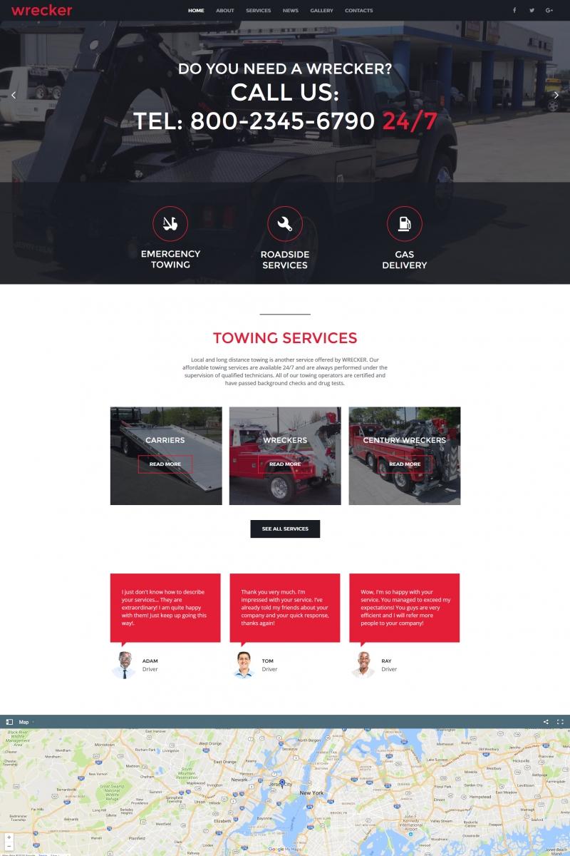 """Auto Towing & Roadside Services"" - MotoCMS HTML шаблон №66425"