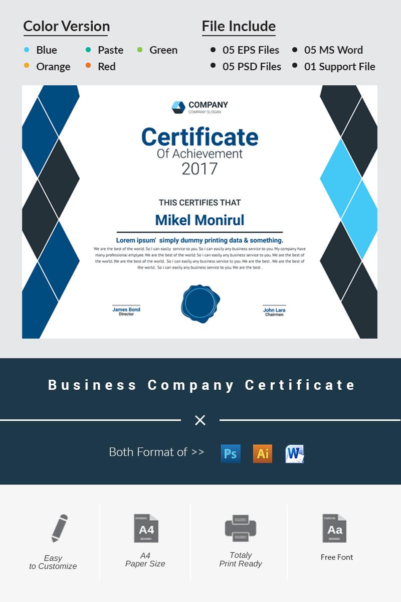 Small Certificate Templates Demirediffusion