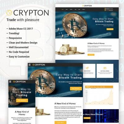 Bitcoin Premium Crypto Adobe CC Muse Template - Adobe muse website templates