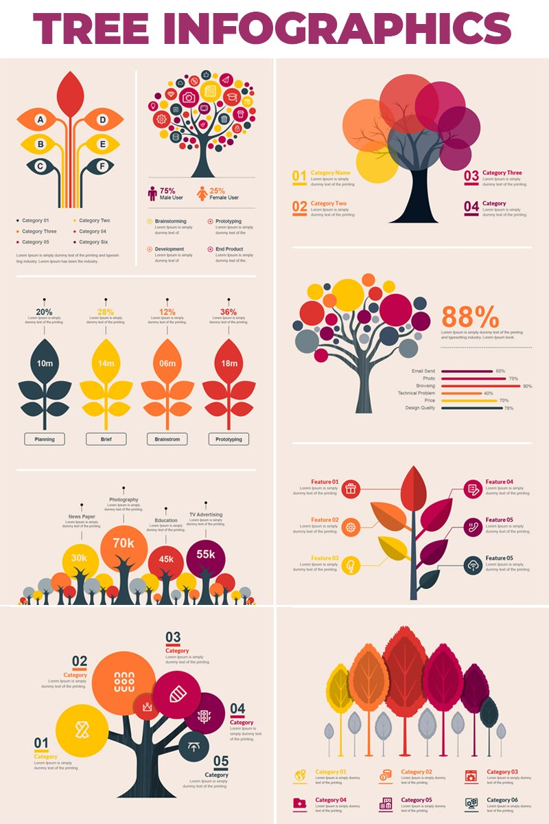 "Elementos De Infografía ""Tree Bundle -"" #66482 - captura de pantalla"