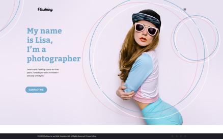 Flashing - Photographer Portfolio WordPress Theme