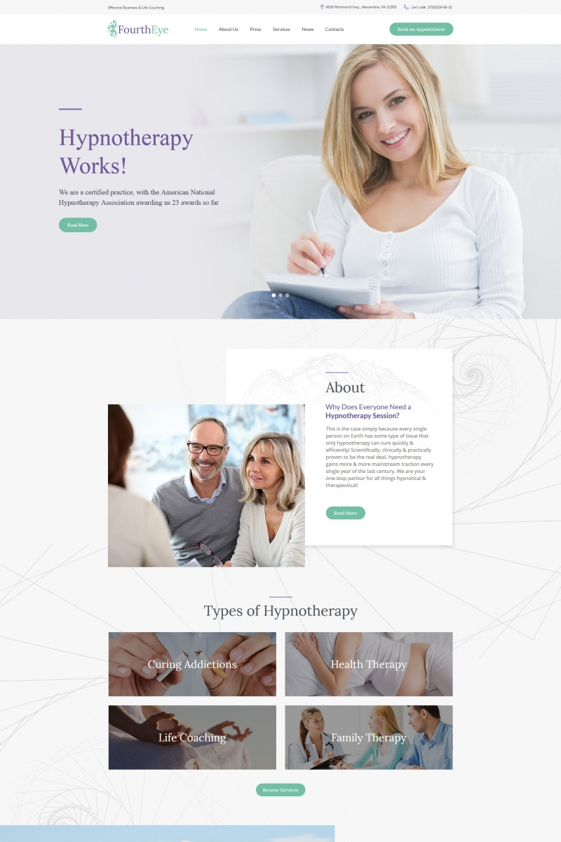 Hypnotherapy Moto CMS HTML Template
