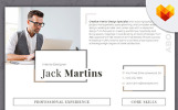 Jack Martins - Interior Designer Resume Template