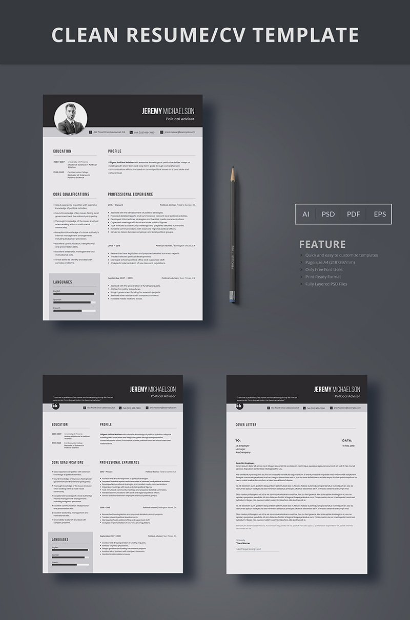 Jeremy Michaelson  Government Resume Template
