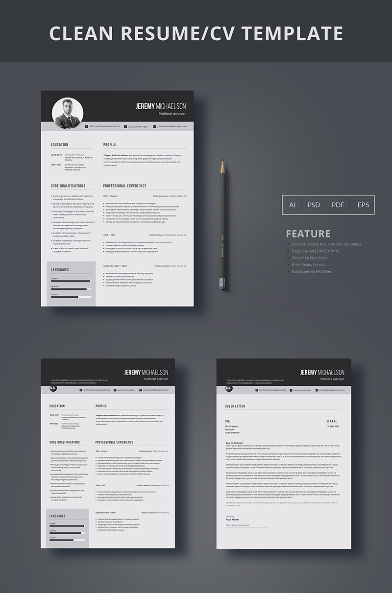 Jeremy Michaelson - Government Resume Template #66435