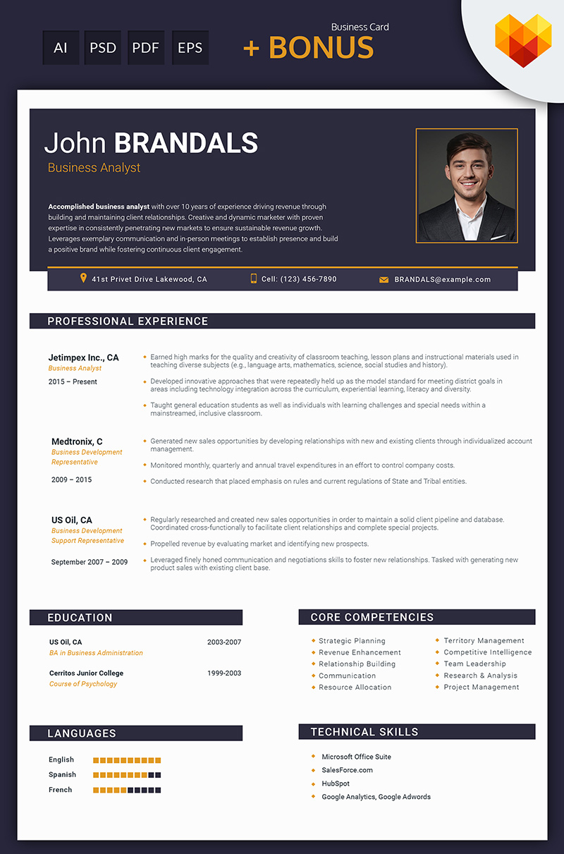 John Brandals Business Analyst And Financial Consultant