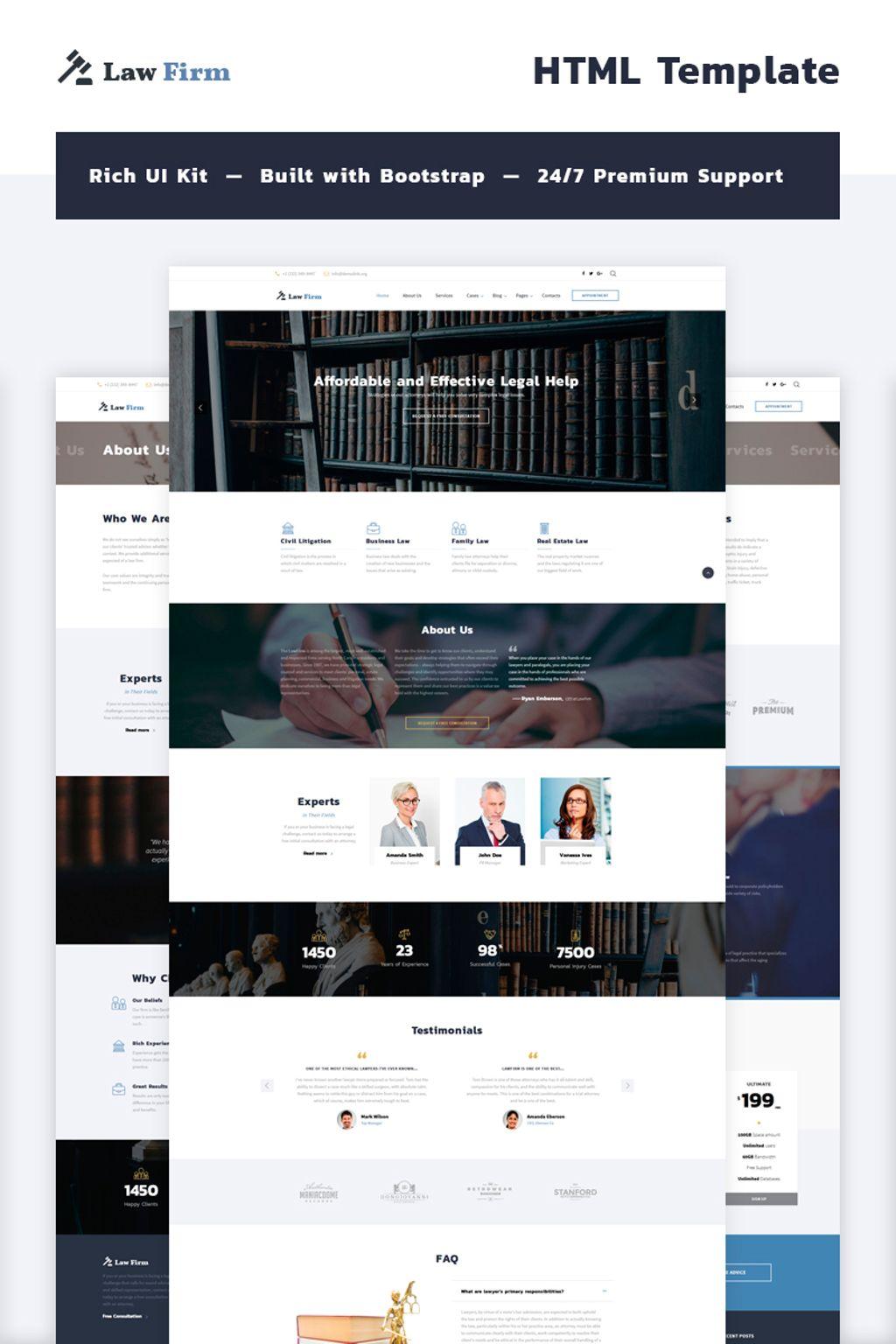 law firm multipage website template. Black Bedroom Furniture Sets. Home Design Ideas