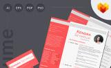Modelo de Currículo para Sites de Página Pessoal №66449