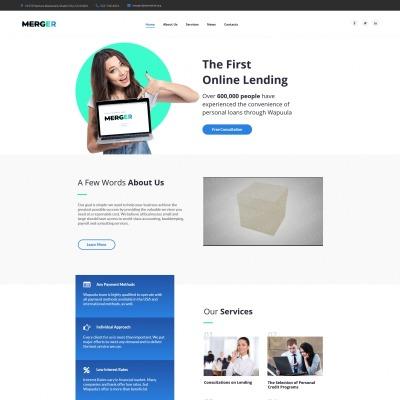 Moto CMS HTML Vorlage #63444 für Business Services