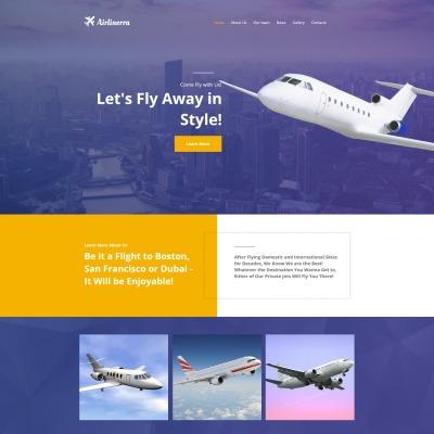 Moto CMS HTML Vorlage #66418 für Luftverkehrsunternehmen