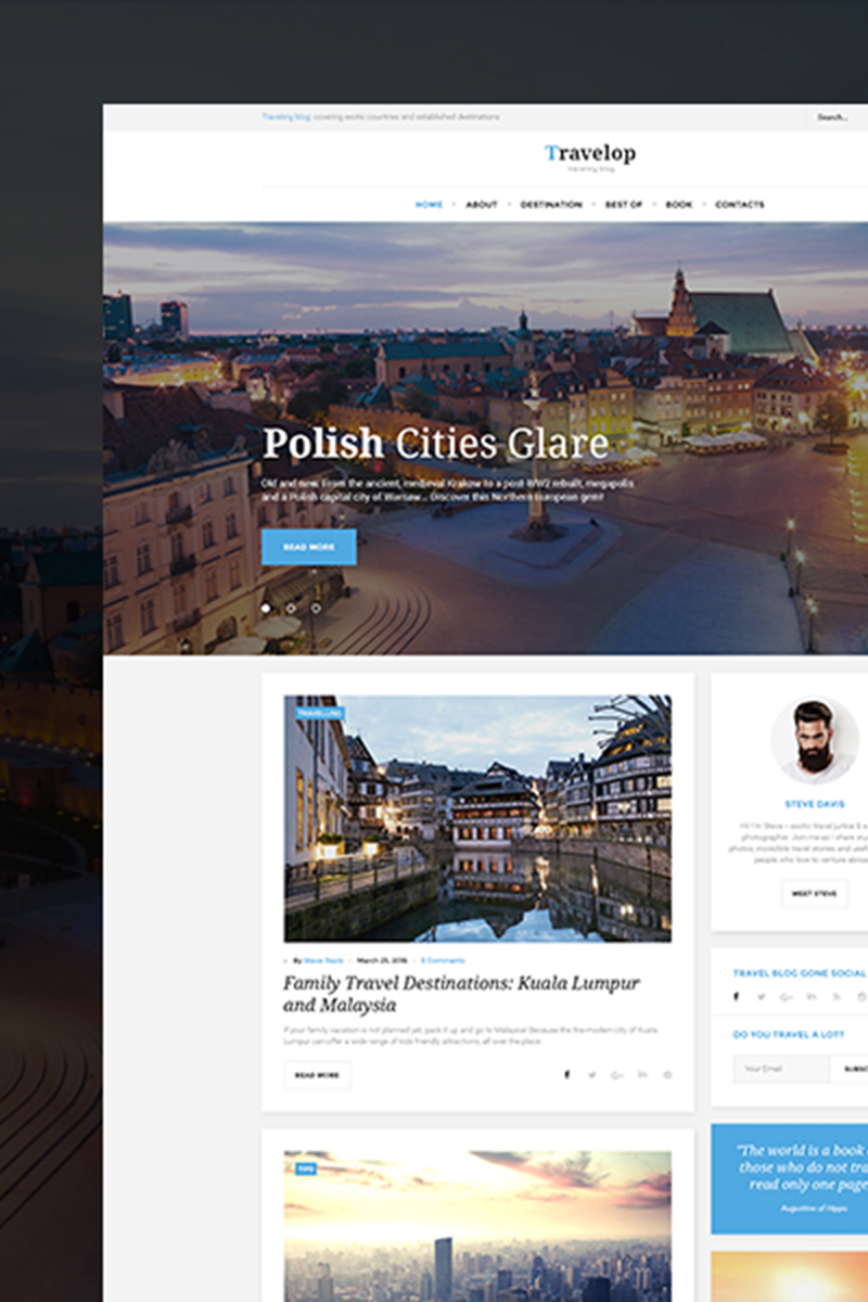Motyw WordPress Travelop_lite - Travel photo blog #66472 - zrzut ekranu