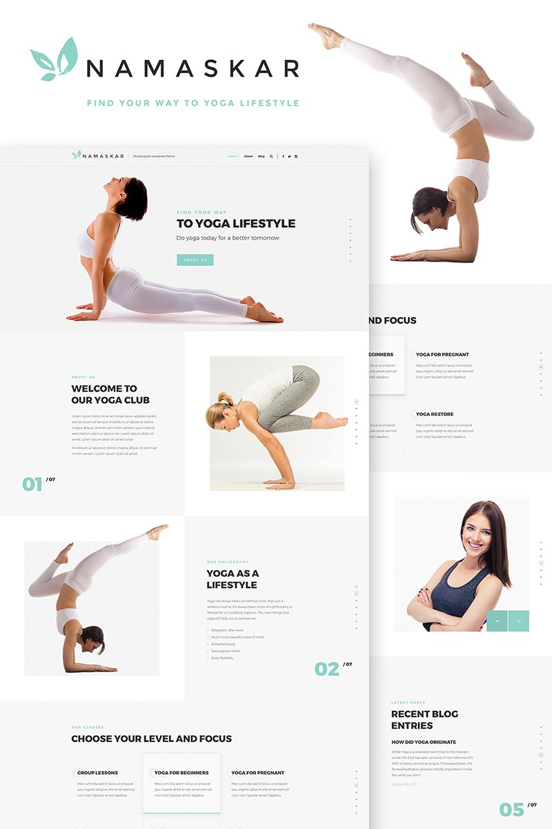 Namaskar - Yoga WordPress Theme - screenshot