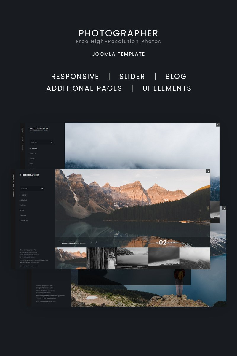 Photographer Joomla Template - screenshot