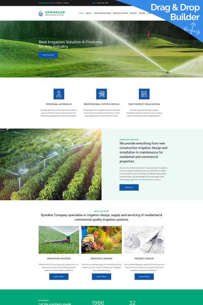 Responsive Plantilla Moto CMS 3  #66412 para Sitio de  para Sitio de Agricultura