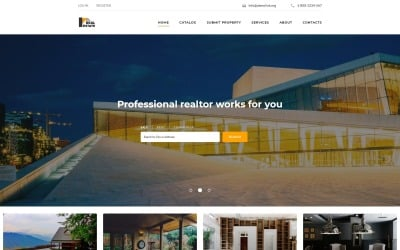 Real Estate Resposive Bootstrap Website Template #66459