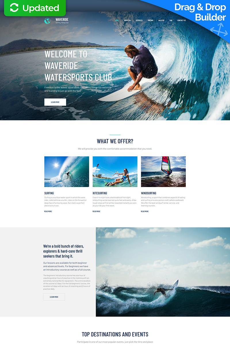 Responsive Waveride - Surfing Club Moto Cms 3 #66402