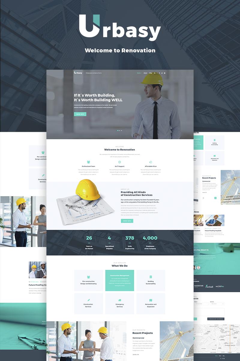 """Responzivní WordPress motiv """"Urbasy - Construction Company"""" #66468"""