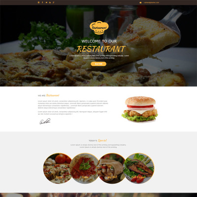 Asian Restaurant Templates | TemplateMonster