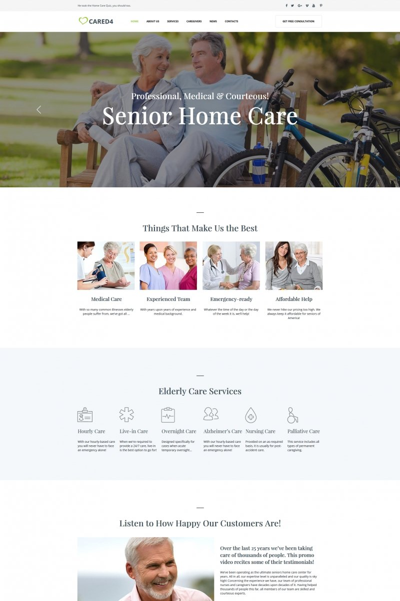 Senior Care Moto Cms Html #66424