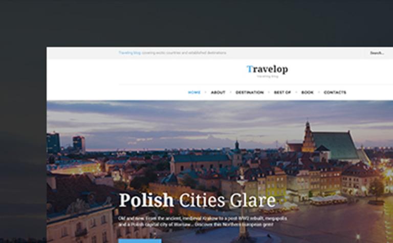 Tema de WordPress #66472 para Sitio de Guías de viajes