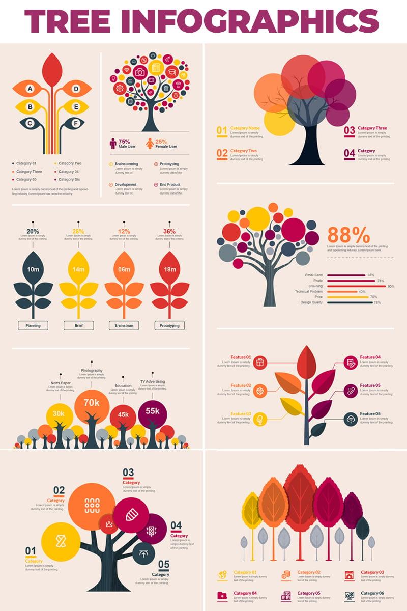Tree Bundle - Elementos Infograficos №66482