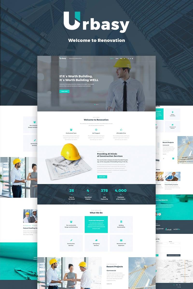 """Urbasy - Construction Company"" thème WordPress adaptatif #66468"