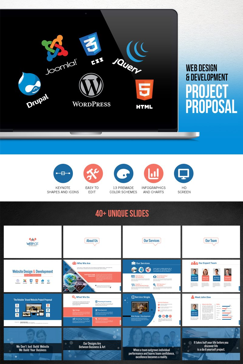 Web design development project proposal powerpoint template 66476 toneelgroepblik