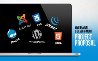 Web Design & Development - Project Proposal PowerPoint Template