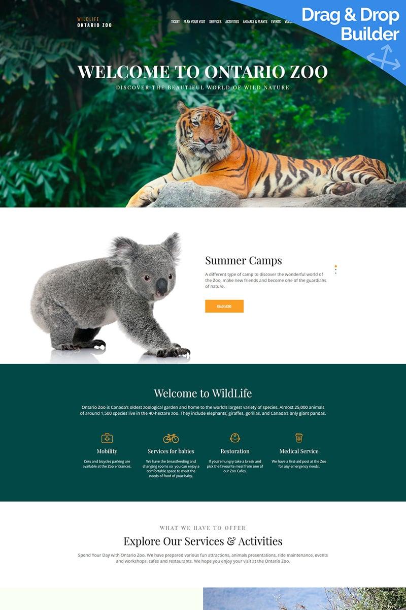 Wild Life - Zoo Premium Templates Moto CMS 3 №66407