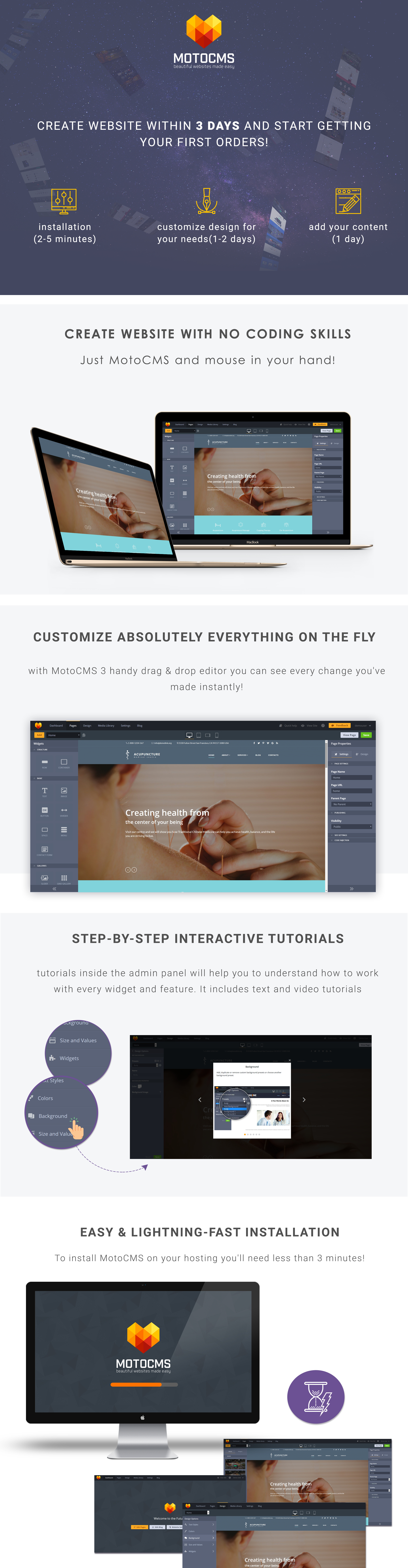 Acupuncture - Medical Center Moto CMS 3 Template