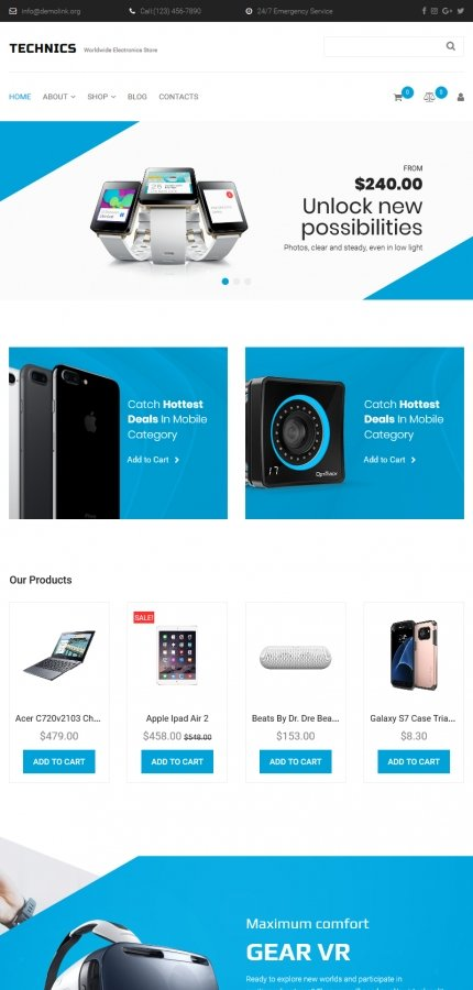 Template #66564 Electronic Electronics Motocms Ecommerce Template - Tablet Layout