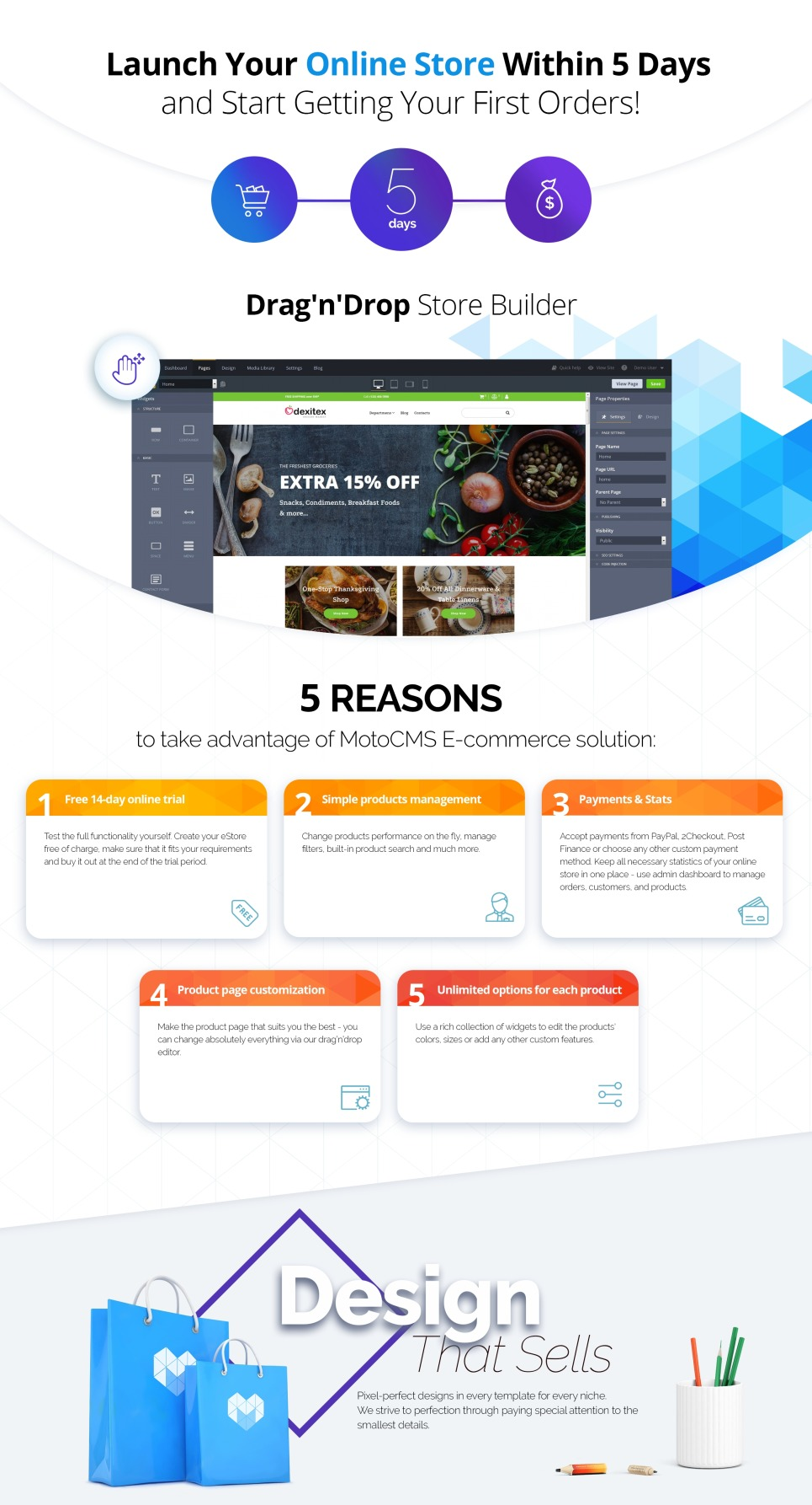Grocery Store Website Template For Online Food Shopping Motocms
