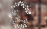 """Love & Cherish Wedding"" modèle logo"