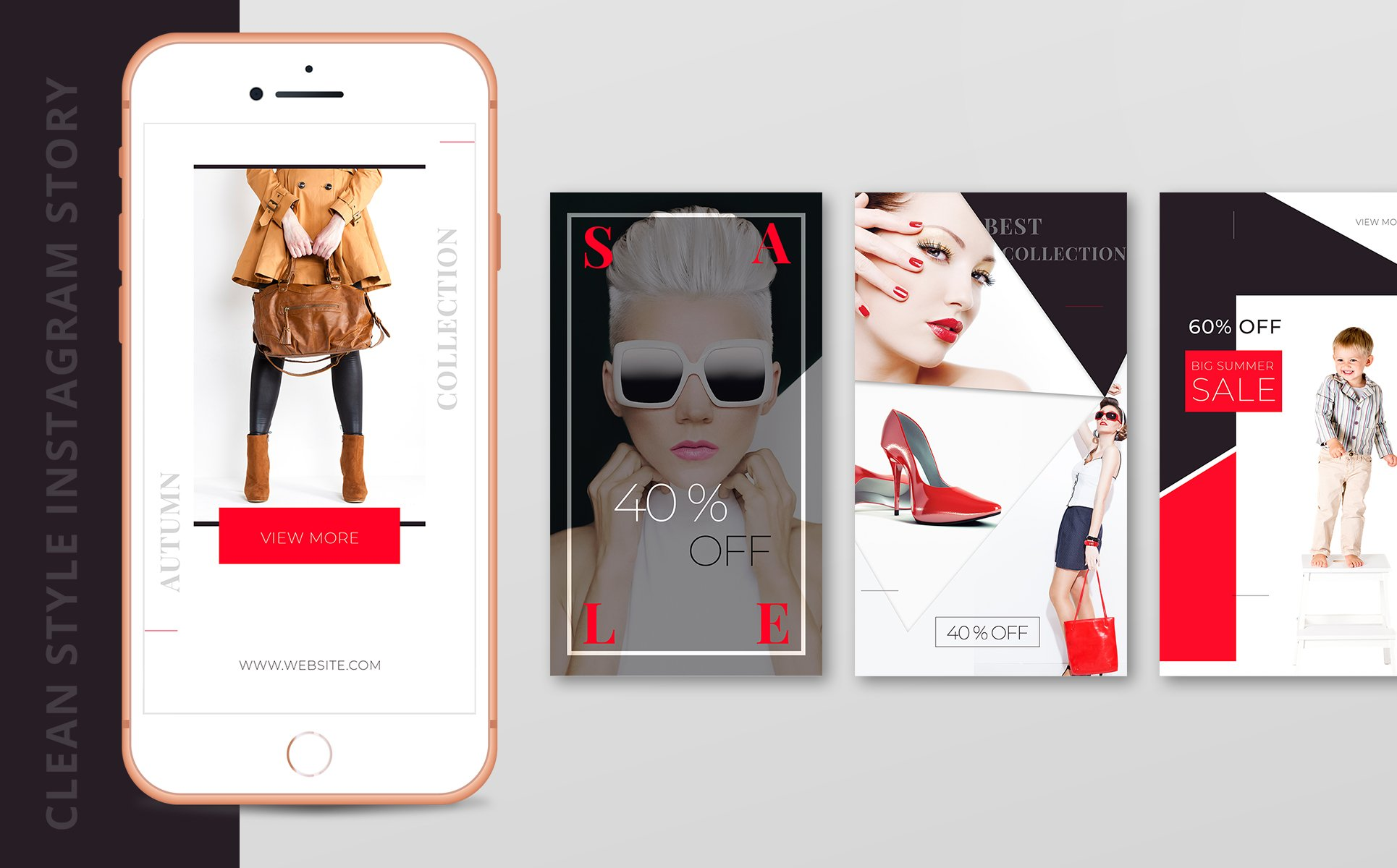 Instagram story template package for fashion business social media zoom in add to collection instagram story ccuart Images