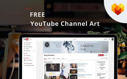 Creative Lab YouTube Channel Art Social Media