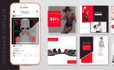 10 Fashion Instagram Template PSD Designs Social Media