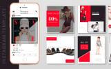 "Шаблон для соцсетей ""10 Fashion Instagram Template PSD Designs"""