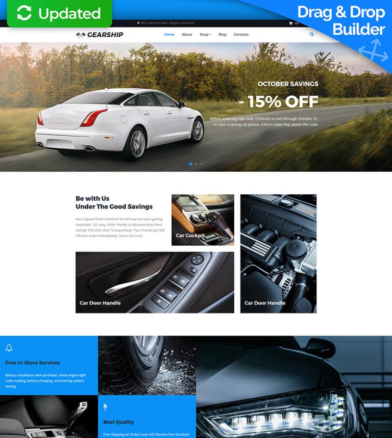 MotoCMS интернет-магазин  66554 на тему автозапчасти от TemplateMonster ad0a9e7394201