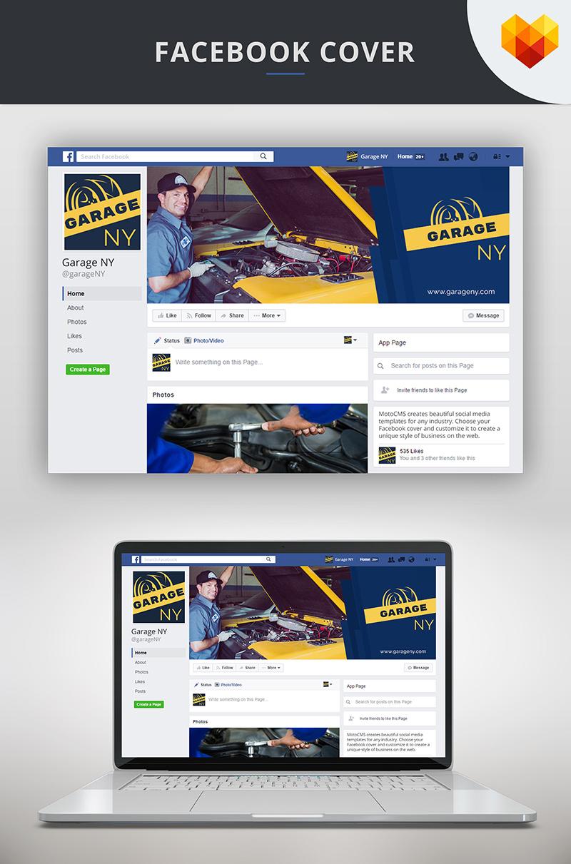 Auto Shop Facebook Cover Template Social Media