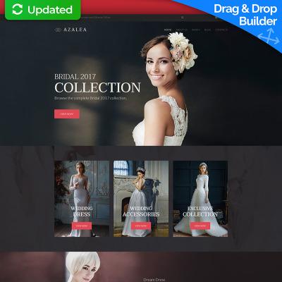 Modèle MotoCMS Pour Commerce électronique adaptatif  pour site de boutique de mariage