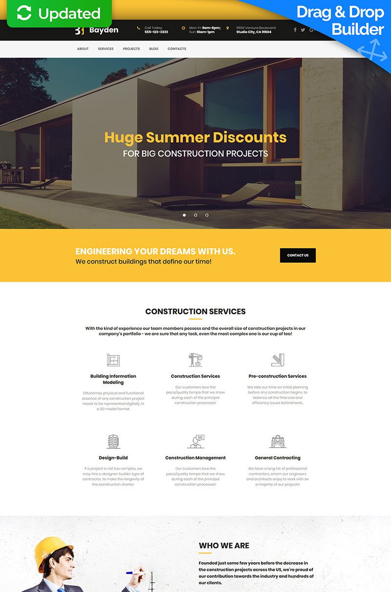 Bayden - Architecture & Construction Company Moto CMS 3 Template