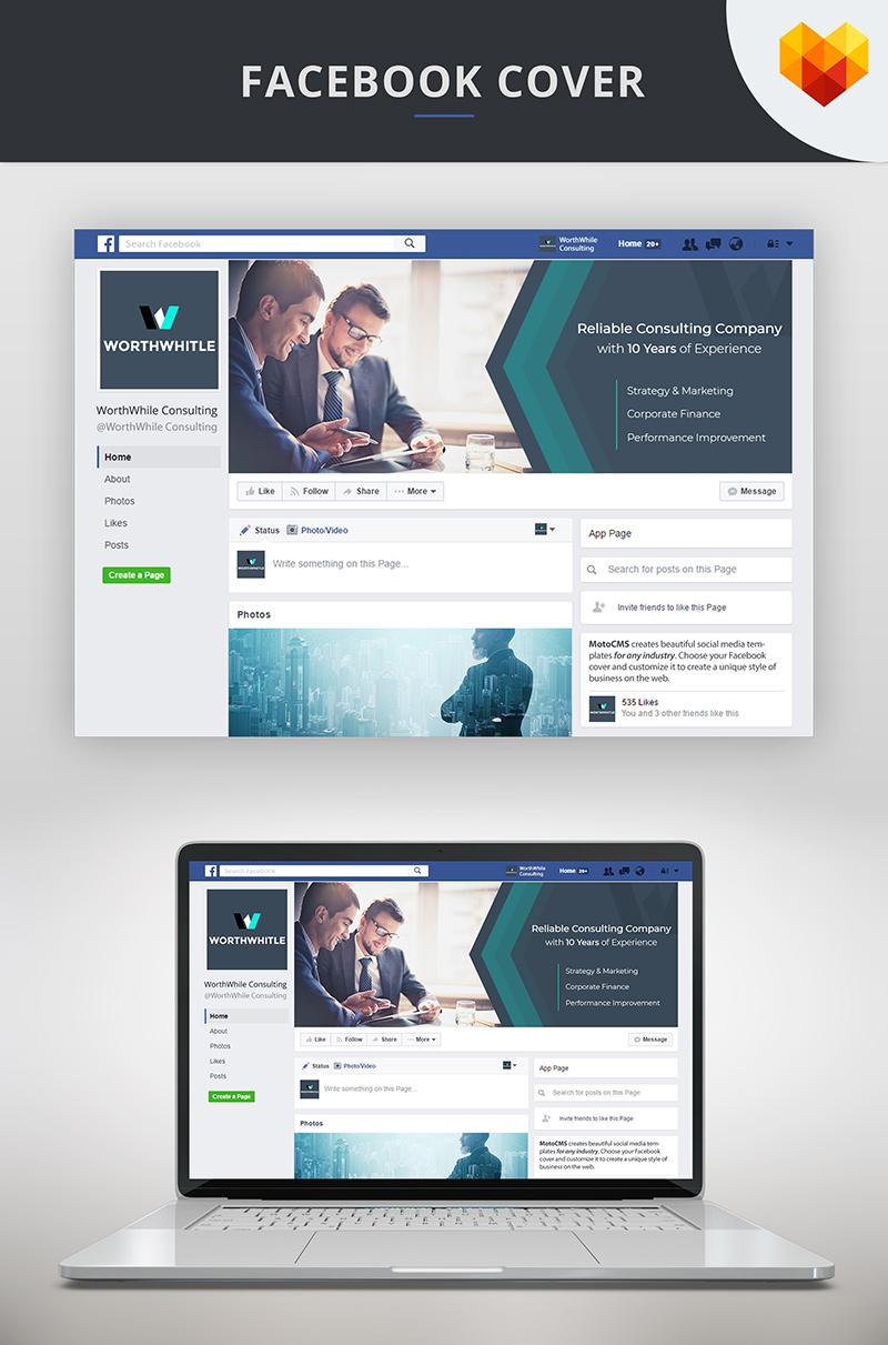 """Consulting FB Timeline Cover Photo"" média social  #66590"