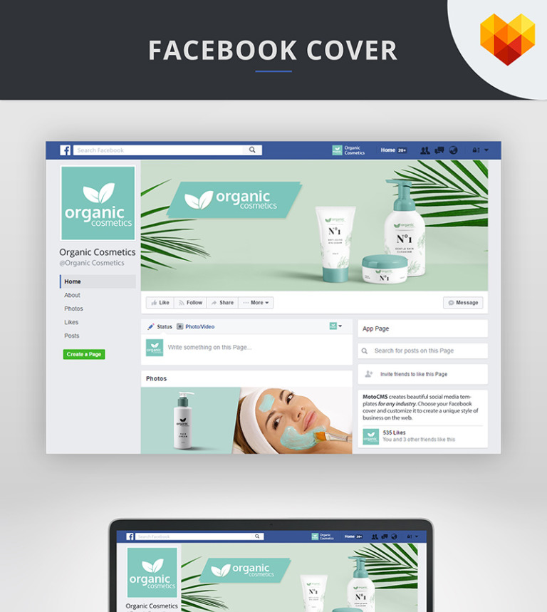 Cosmetics Facebook Cover Template Social Media Screenshot