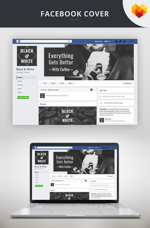 Facebook Cover Template For Coffee Shop Social Media #66599