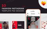 10 Fashion Instagram Template PSD Designs Social Media