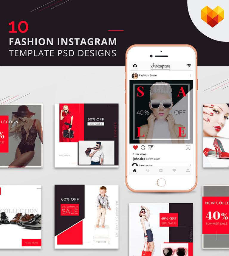 10 Fashion Instagram Template Psd Designs Social Media 66589
