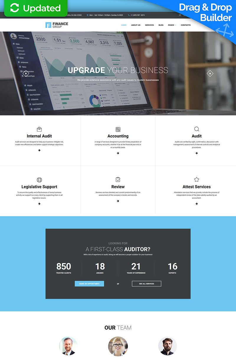 Finance Group - Accounting & Audit Moto CMS 3 Template