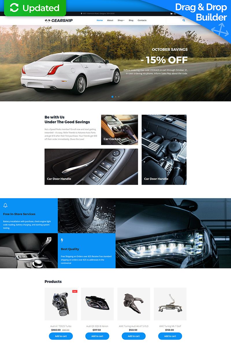 gearship car parts store motocms ecommerce template 66554. Black Bedroom Furniture Sets. Home Design Ideas