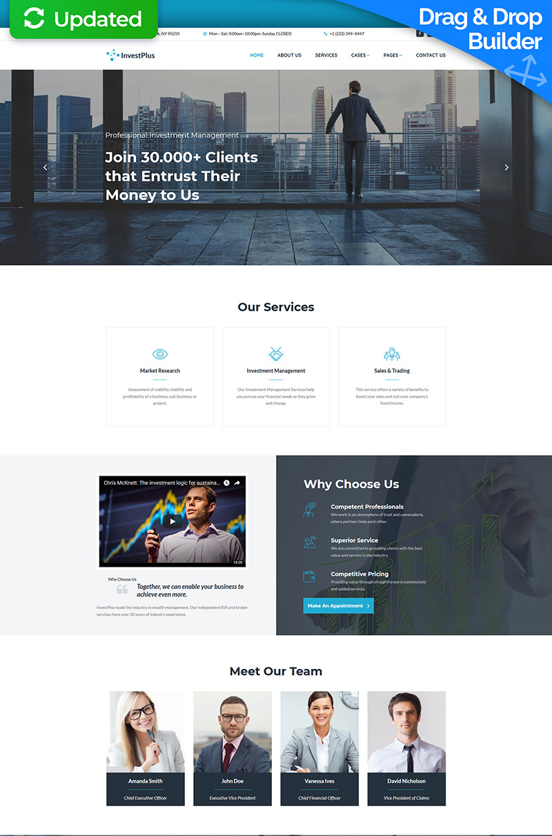 Invest Plus - Investment Company Moto CMS 3 Template