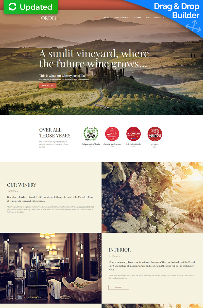 Jorden - Wine And Winery Moto CMS 3 Template